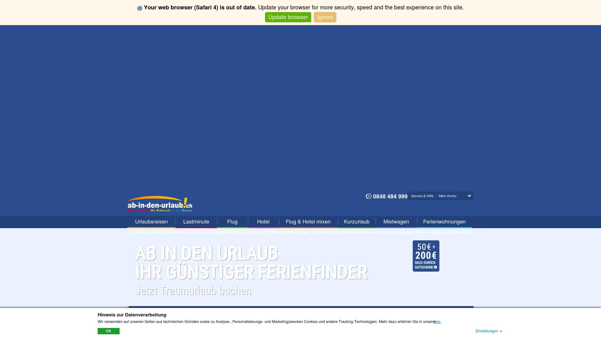 Geld zurück bei Ab-in-den-urlaub: Jetzt im Oktober 2021 Cashback für Ab-in-den-urlaub sichern