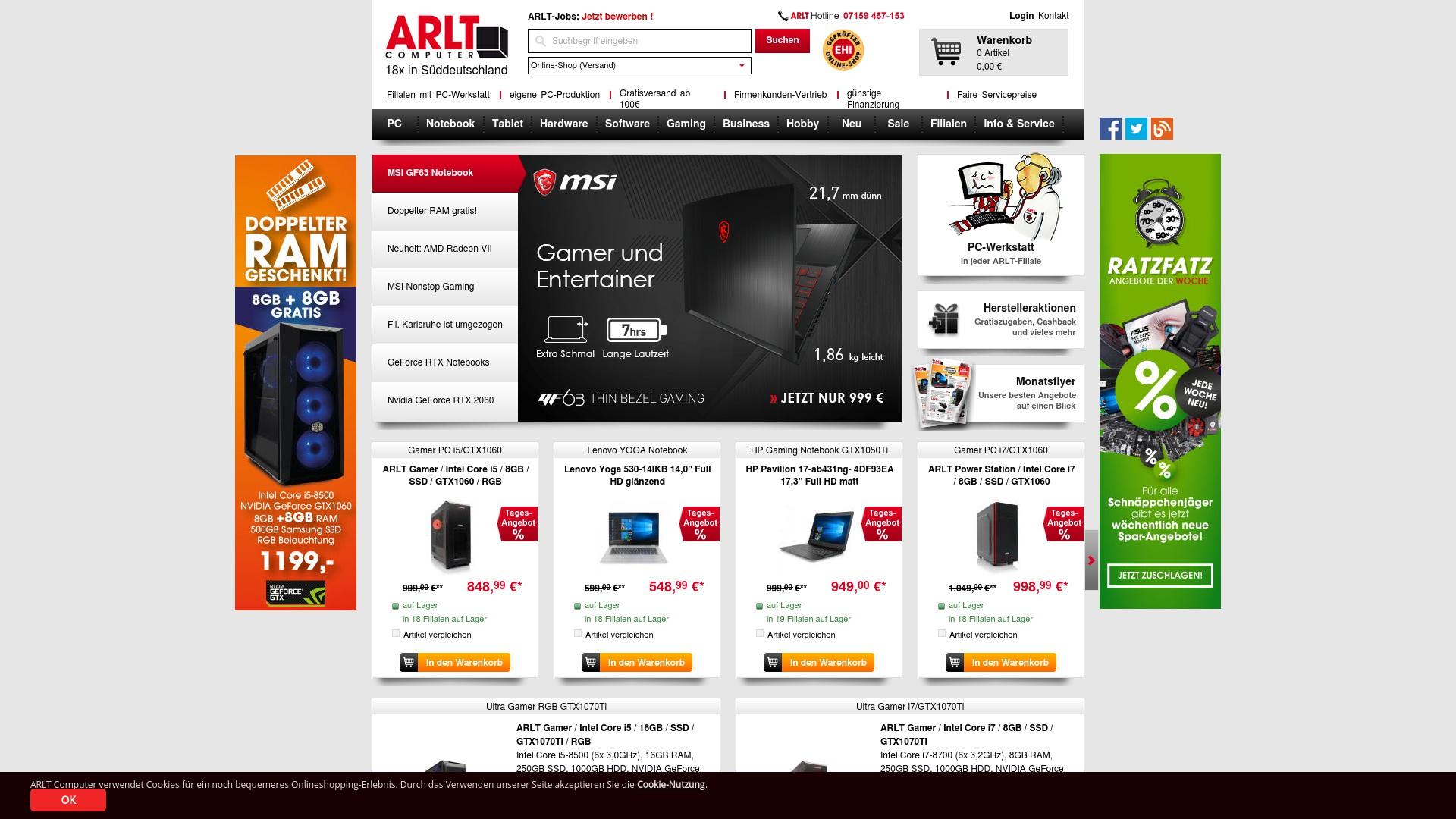 Geld zurück bei Arlt: Jetzt im Oktober 2021 Cashback für Arlt sichern