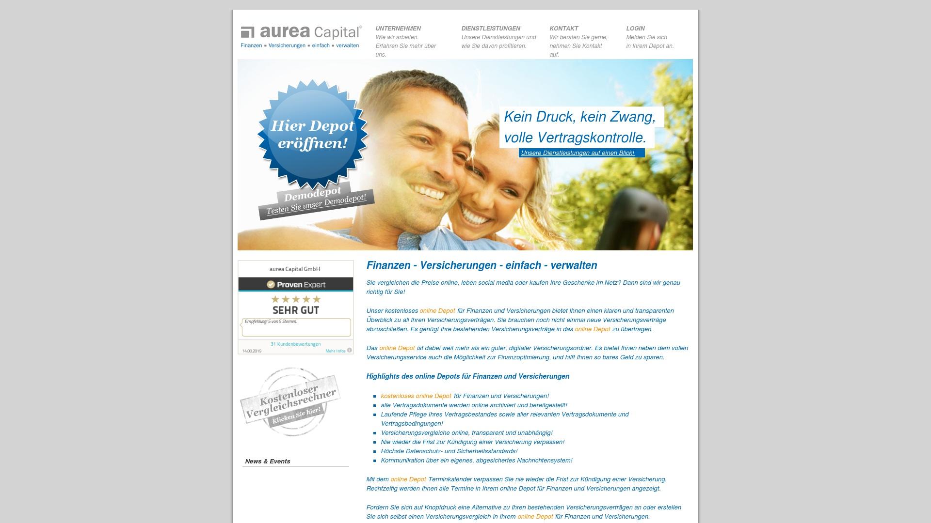 Geld zurück bei Aurea-capital: Jetzt im Mai 2021 Cashback für Aurea-capital sichern