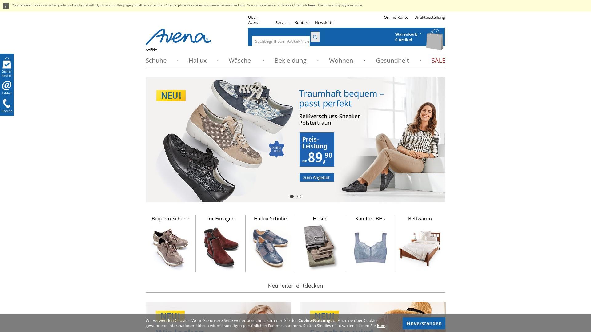 Geld zurück bei Avena: Jetzt im Oktober 2021 Cashback für Avena sichern