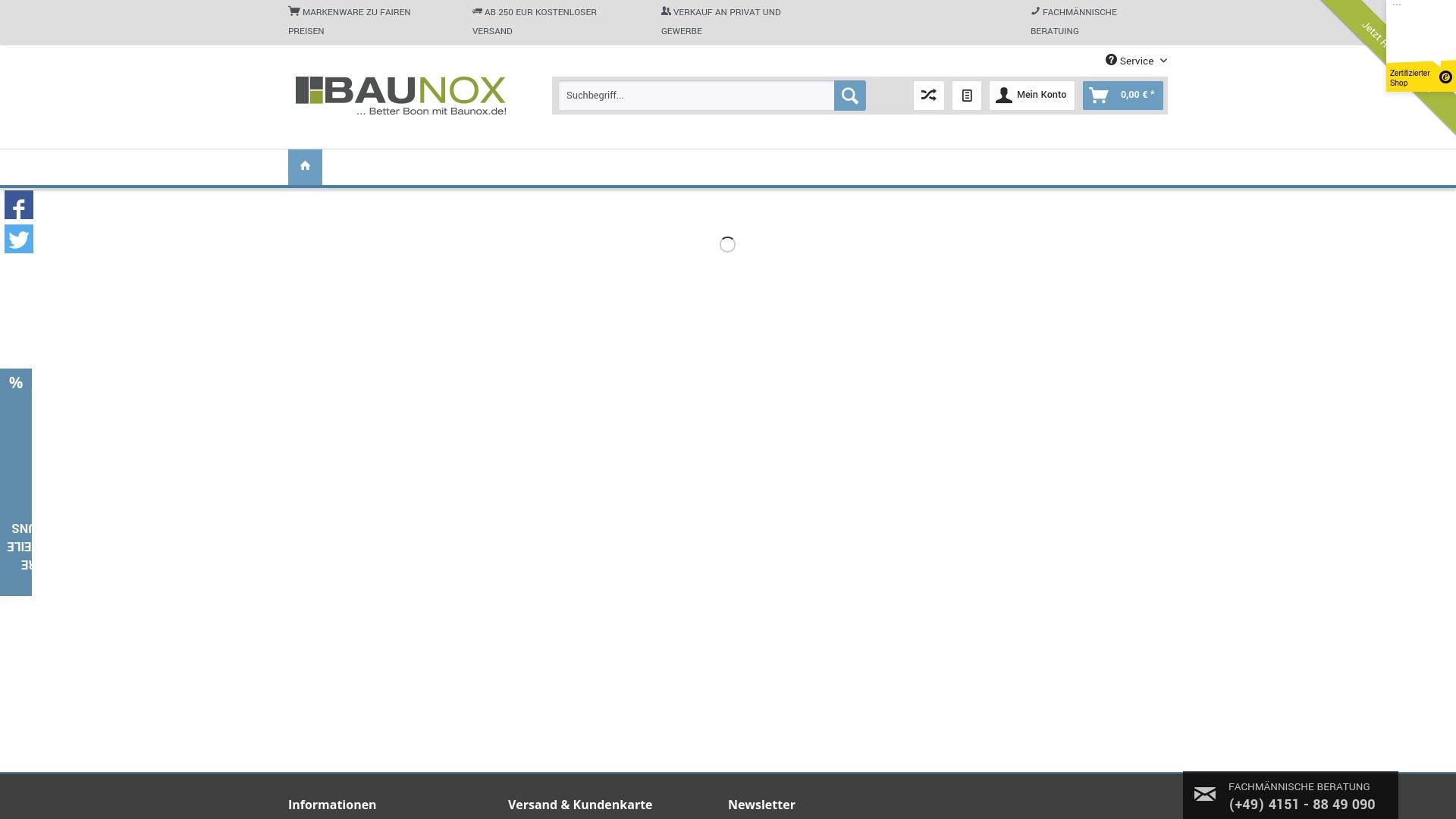 Geld zurück bei Baunox: Jetzt im Oktober 2021 Cashback für Baunox sichern