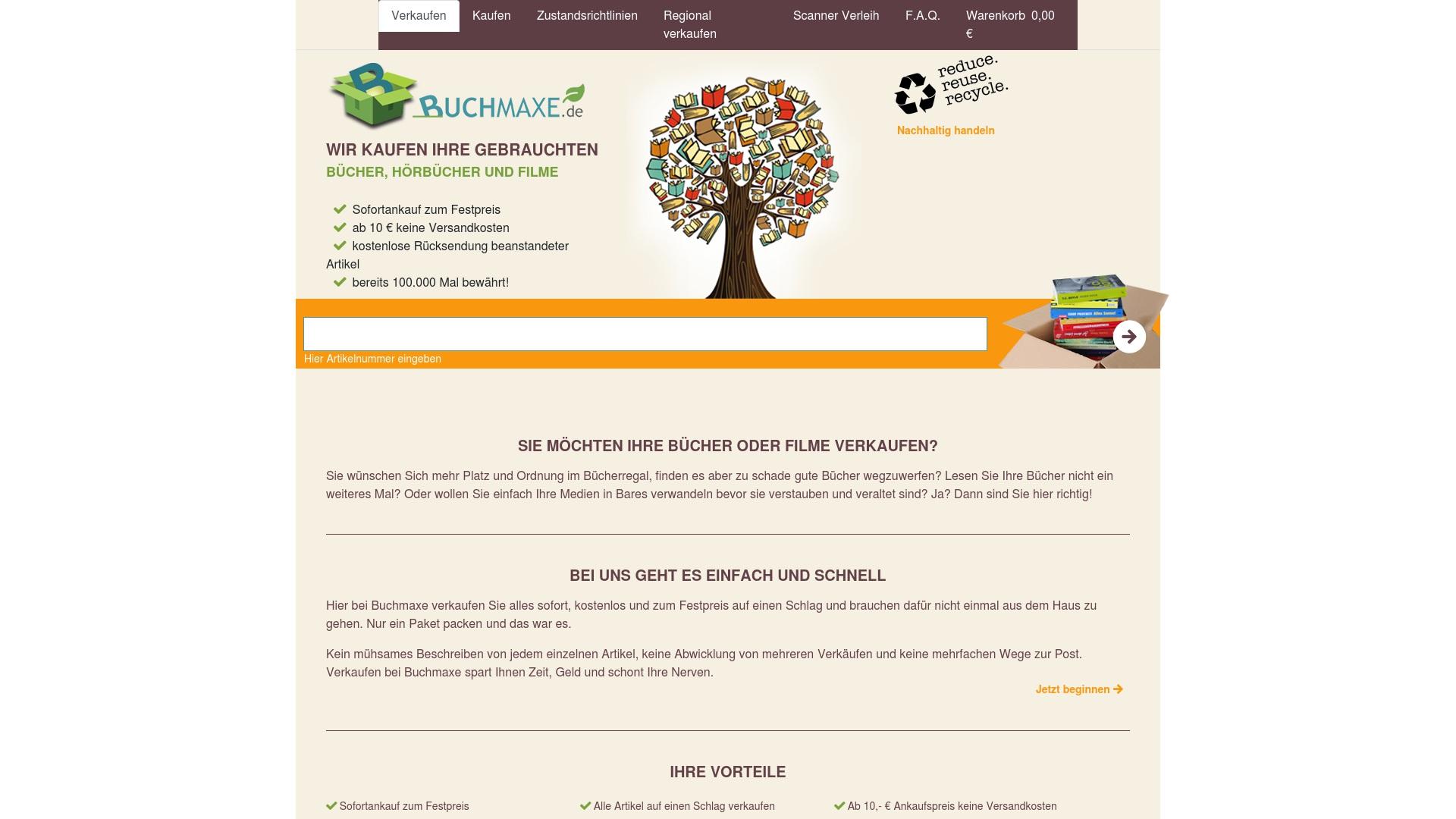 Geld zurück bei Buchmaxe: Jetzt im Oktober 2021 Cashback für Buchmaxe sichern