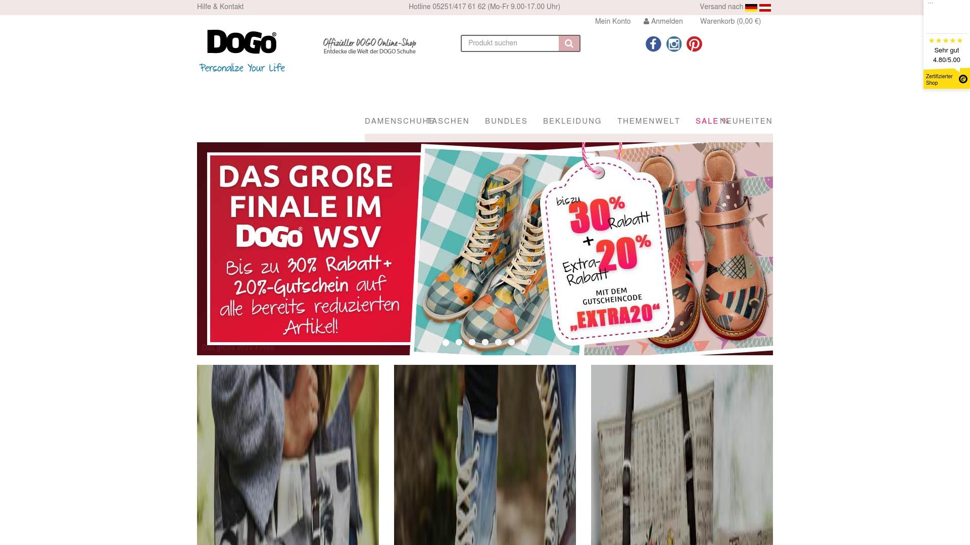 Geld zurück bei Dogo-shoes: Jetzt im Oktober 2021 Cashback für Dogo-shoes sichern