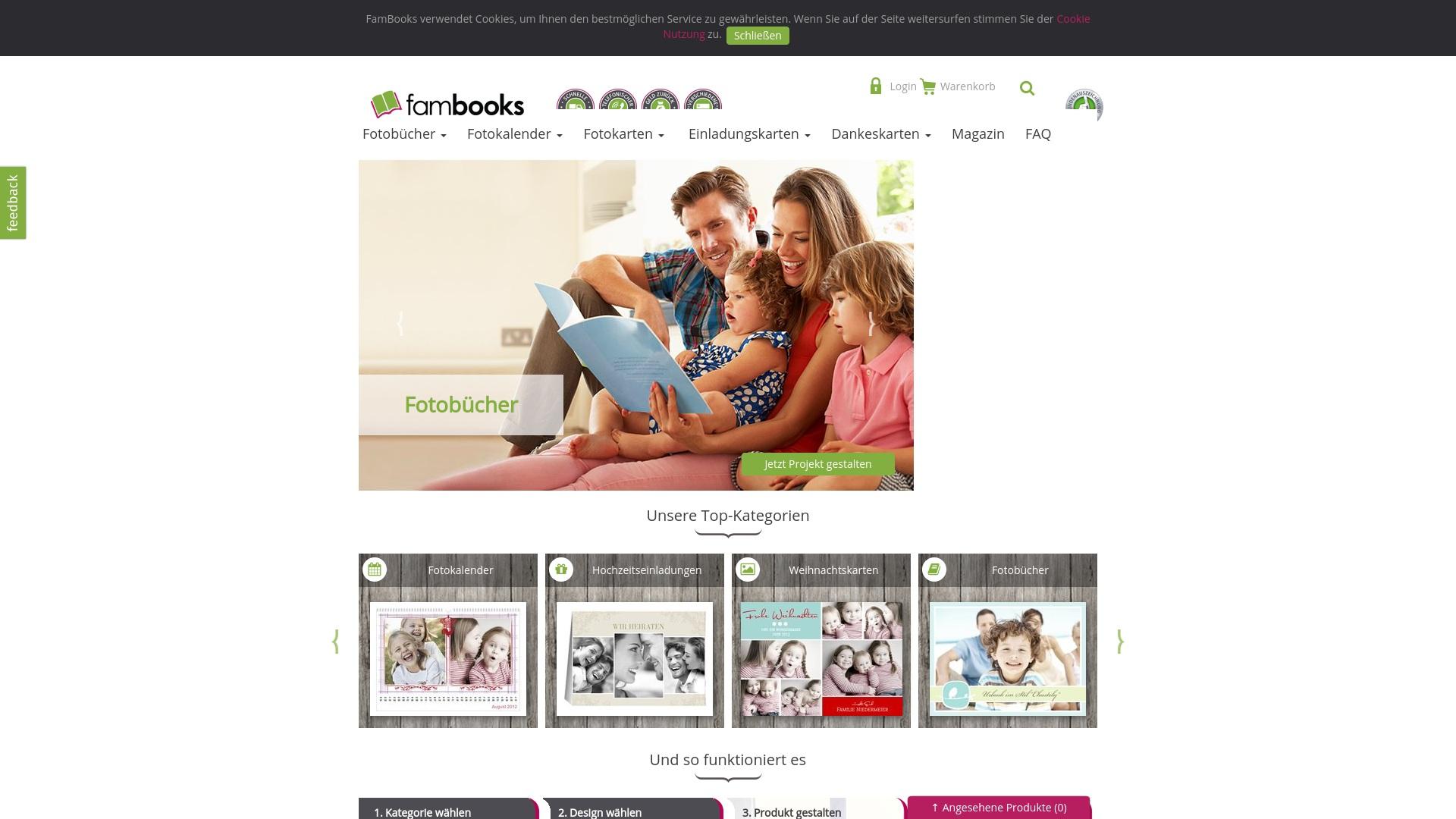 Geld zurück bei Fambooks: Jetzt im April 2021 Cashback für Fambooks sichern