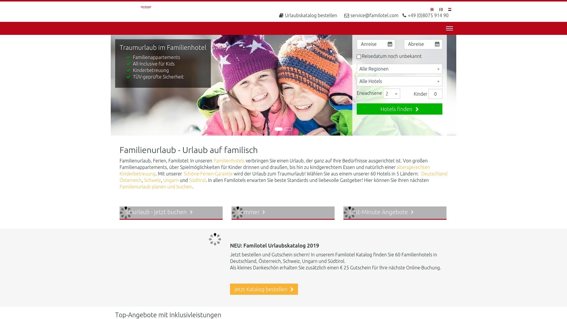 Geld zurück bei Familotel: Jetzt im April 2021 Cashback für Familotel sichern