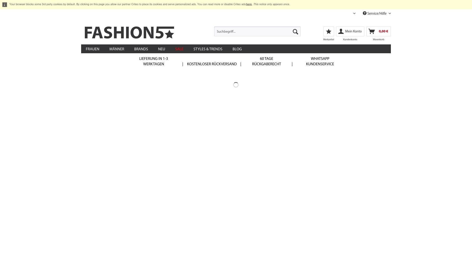 Geld zurück bei Fashion5: Jetzt im Oktober 2021 Cashback für Fashion5 sichern
