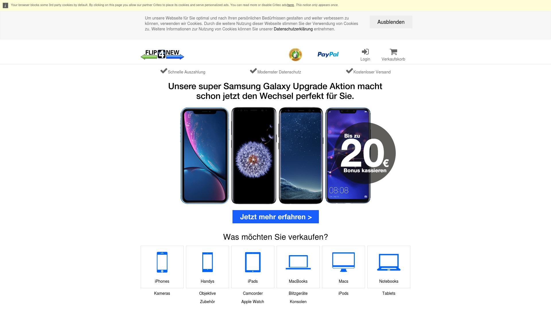 Geld zurück bei Flip4new: Jetzt im Mai 2021 Cashback für Flip4new sichern