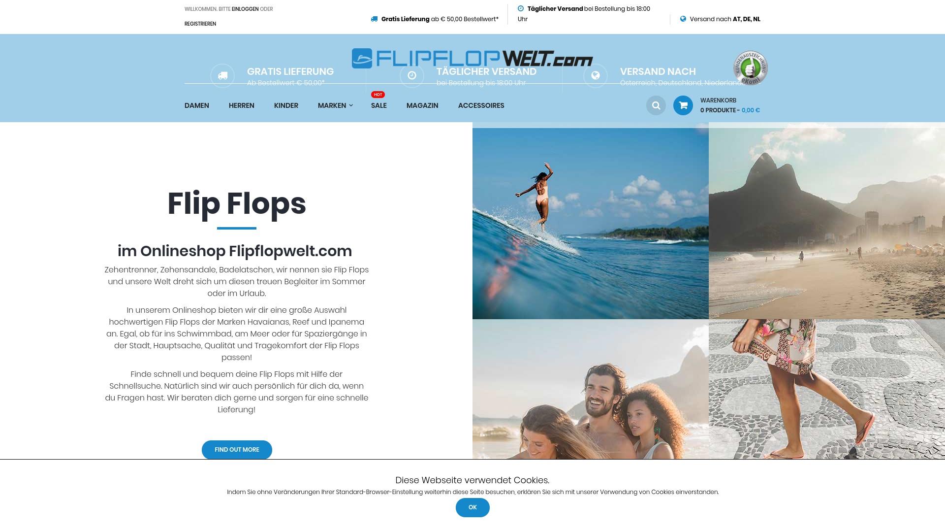 Geld zurück bei Flipflopwelt: Jetzt im April 2021 Cashback für Flipflopwelt sichern
