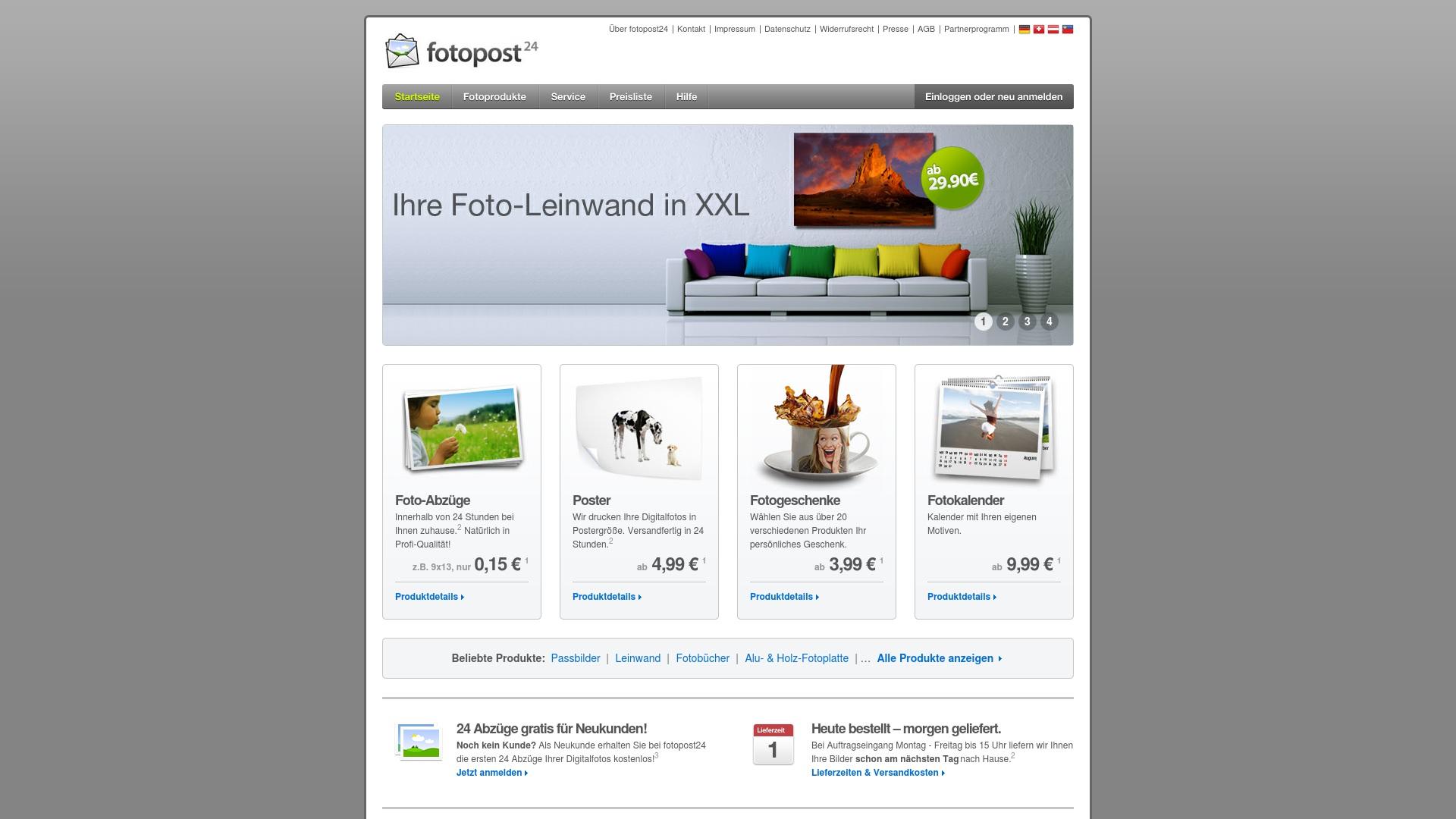 Geld zurück bei Fotopost24: Jetzt im September 2021 Cashback für Fotopost24 sichern