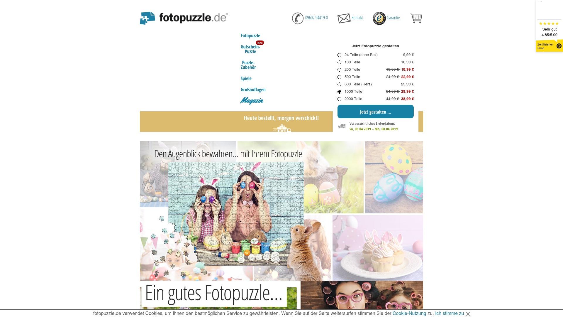 Geld zurück bei Fotopuzzle: Jetzt im Mai 2021 Cashback für Fotopuzzle sichern