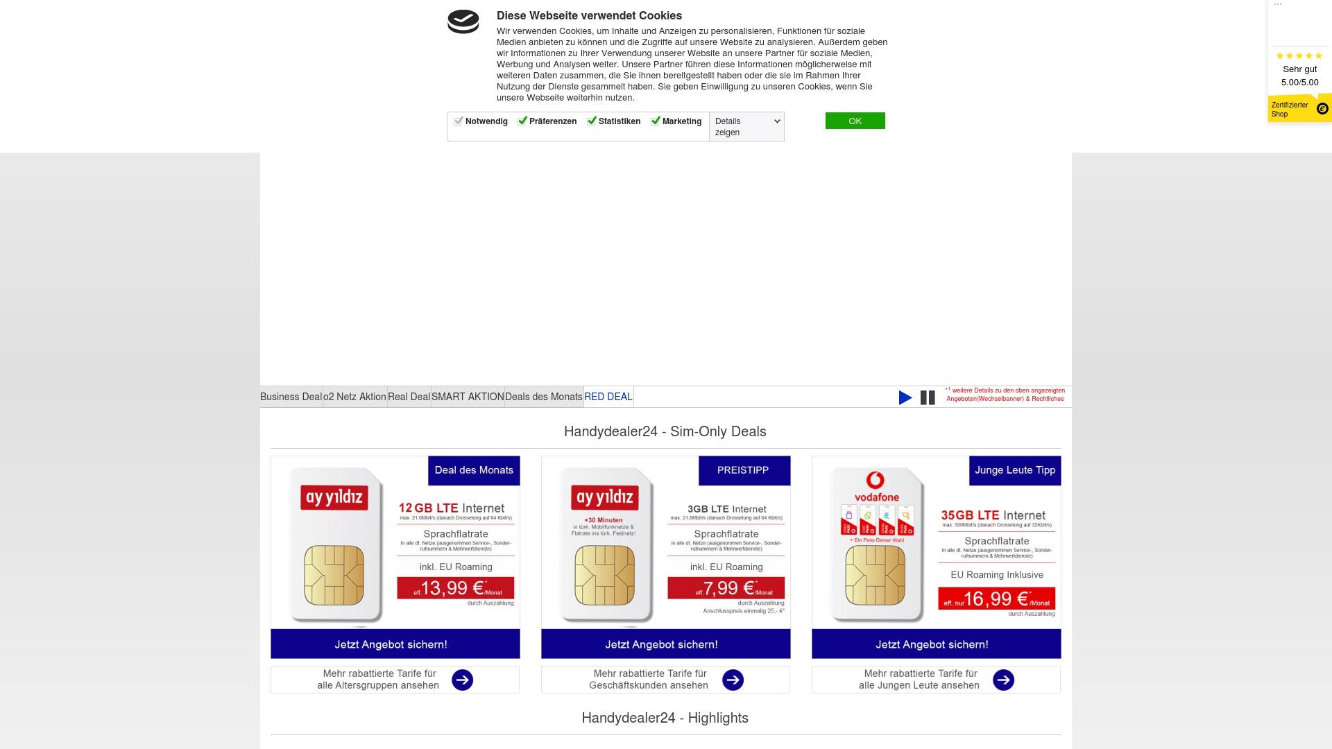 Geld zurück bei Handydealer24: Jetzt im Oktober 2021 Cashback für Handydealer24 sichern