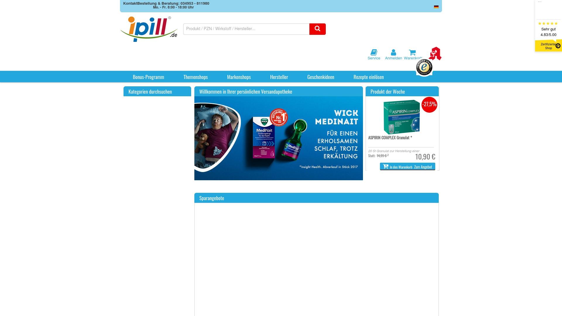 Geld zurück bei Ipill: Jetzt im Oktober 2021 Cashback für Ipill sichern