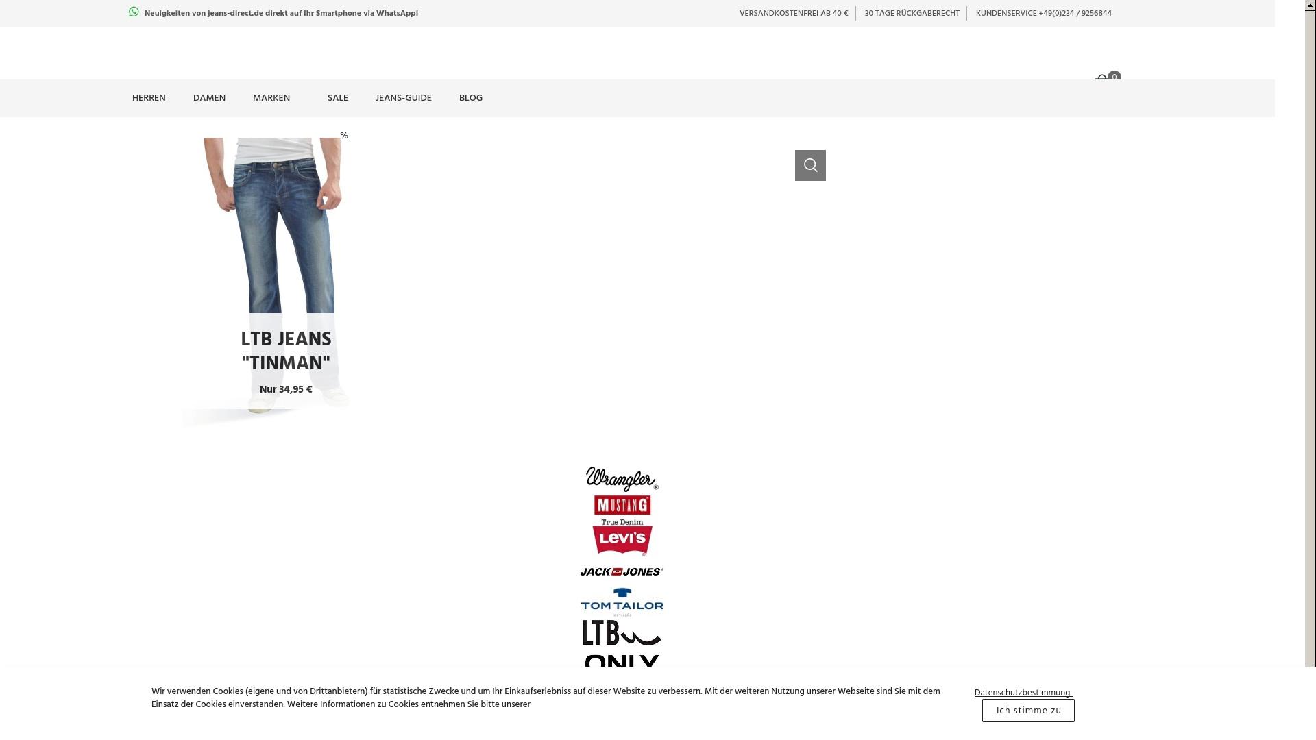 Geld zurück bei Jeans-direct: Jetzt im April 2021 Cashback für Jeans-direct sichern