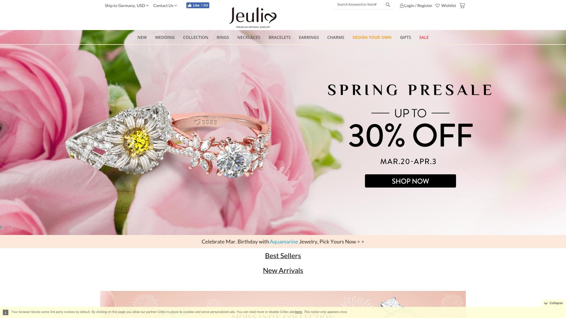 Geld zurück bei Jeulia: Jetzt im Oktober 2021 Cashback für Jeulia sichern