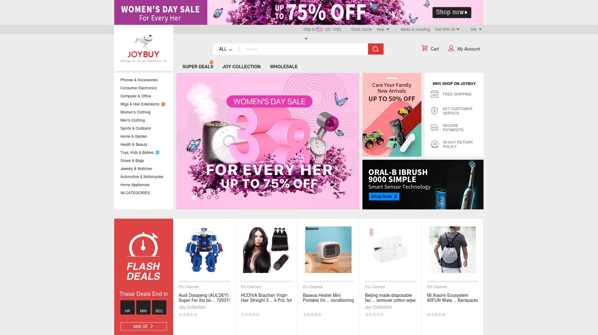 Geld zurück bei Joybuy: Jetzt im Oktober 2021 Cashback für Joybuy sichern