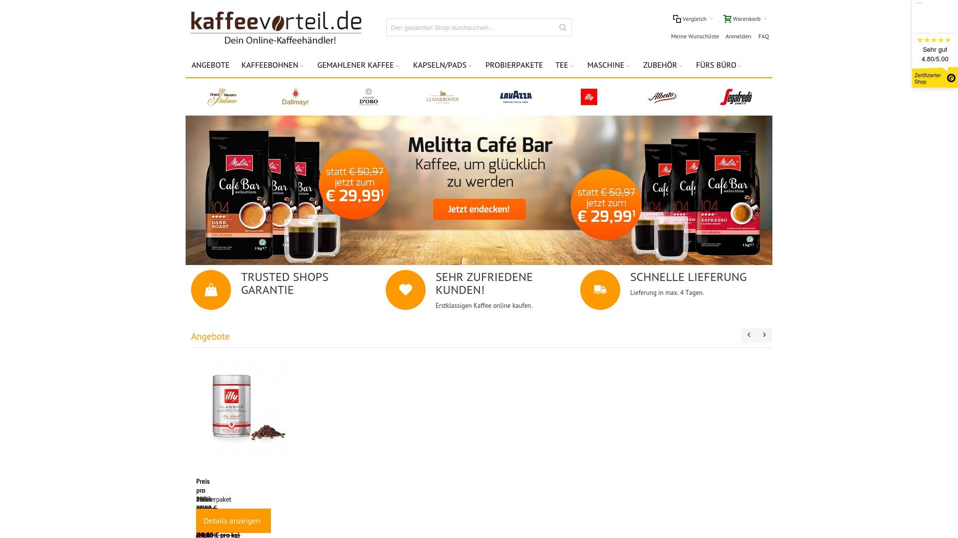 Geld zurück bei Kaffeevorteil: Jetzt im Oktober 2021 Cashback für Kaffeevorteil sichern
