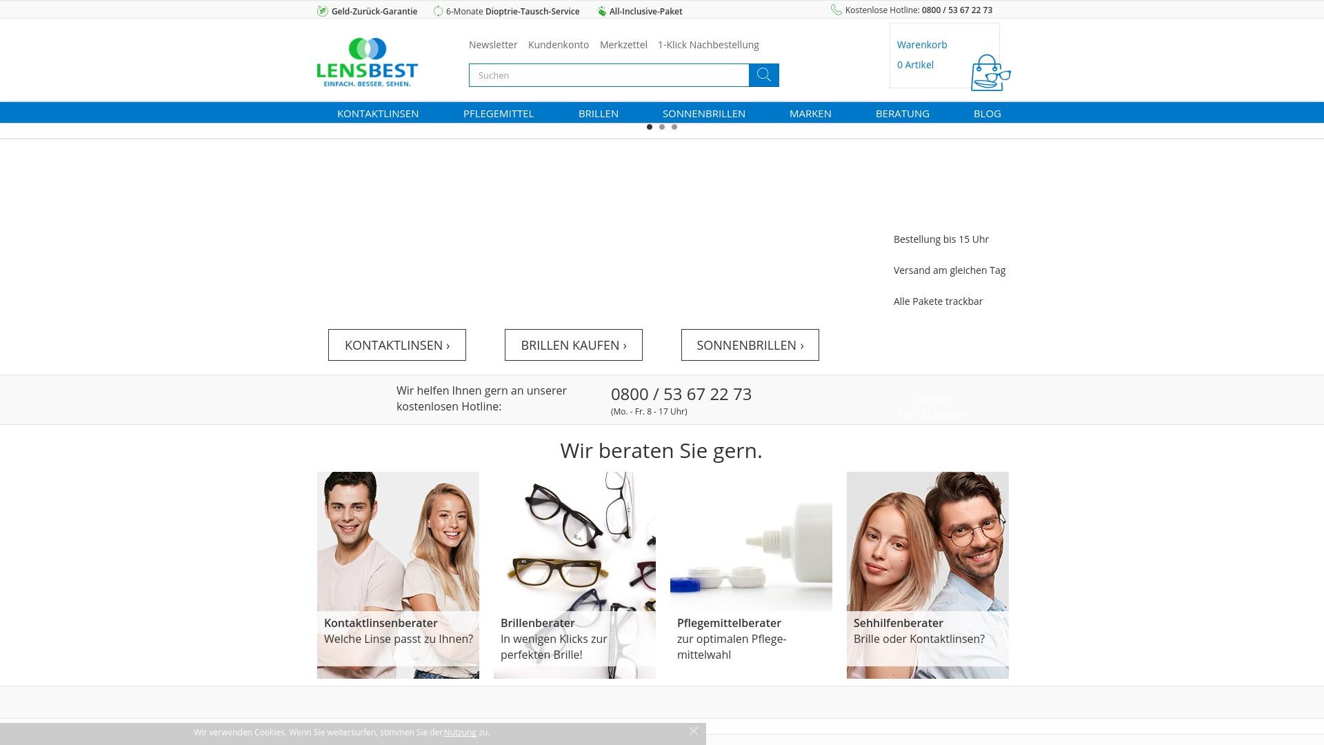 Geld zurück bei Lensbest: Jetzt im Juli 2021 Cashback für Lensbest sichern