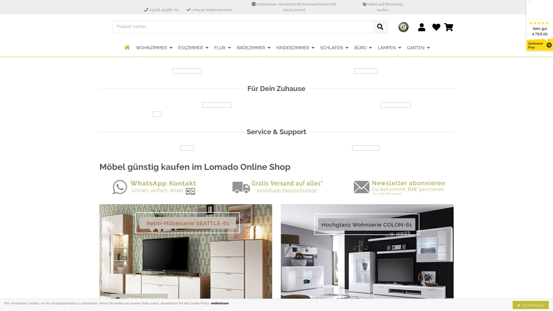 Geld zurück bei Lomado: Jetzt im Oktober 2021 Cashback für Lomado sichern