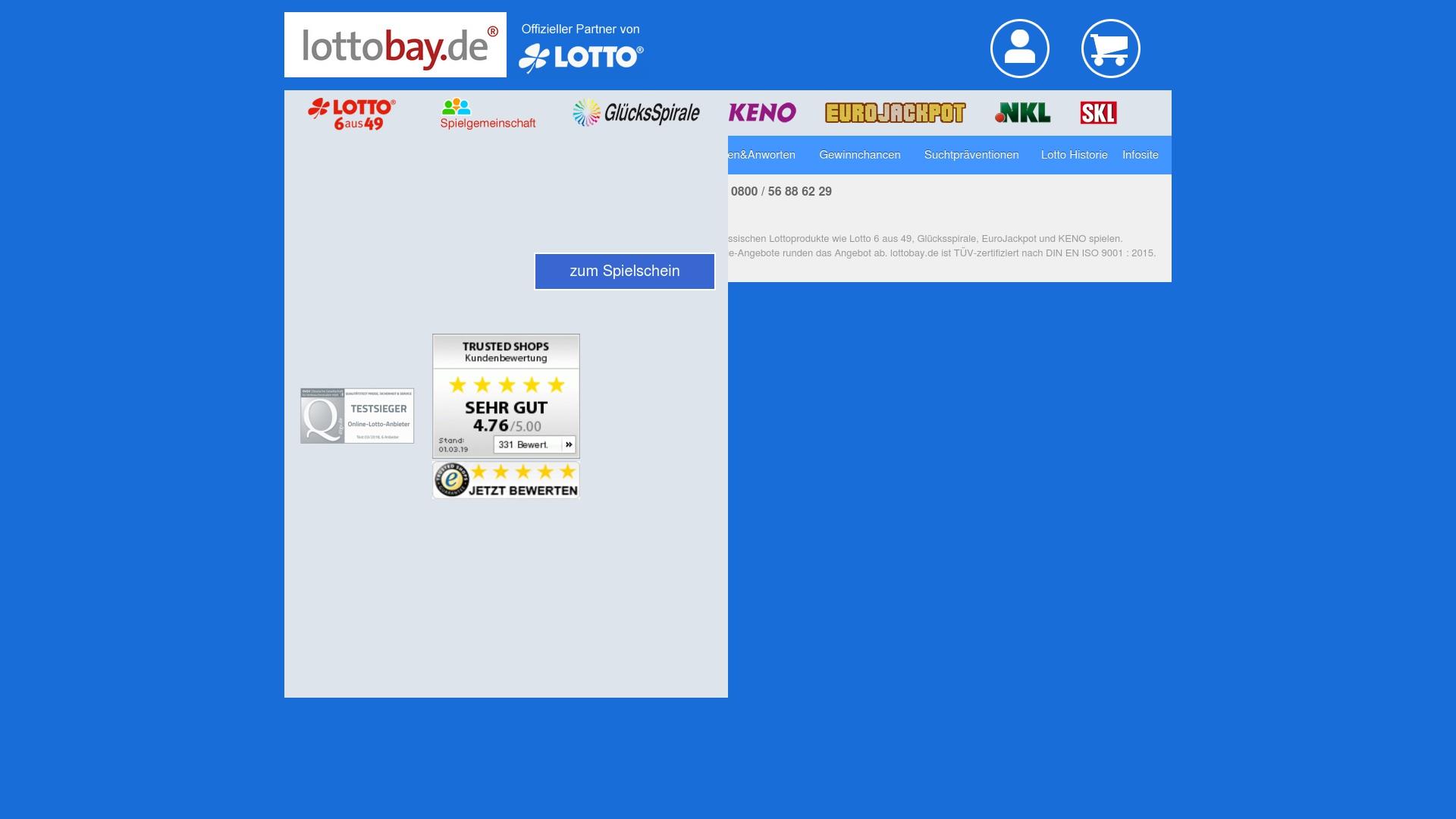Geld zurück bei Lottobay: Jetzt im Mai 2021 Cashback für Lottobay sichern