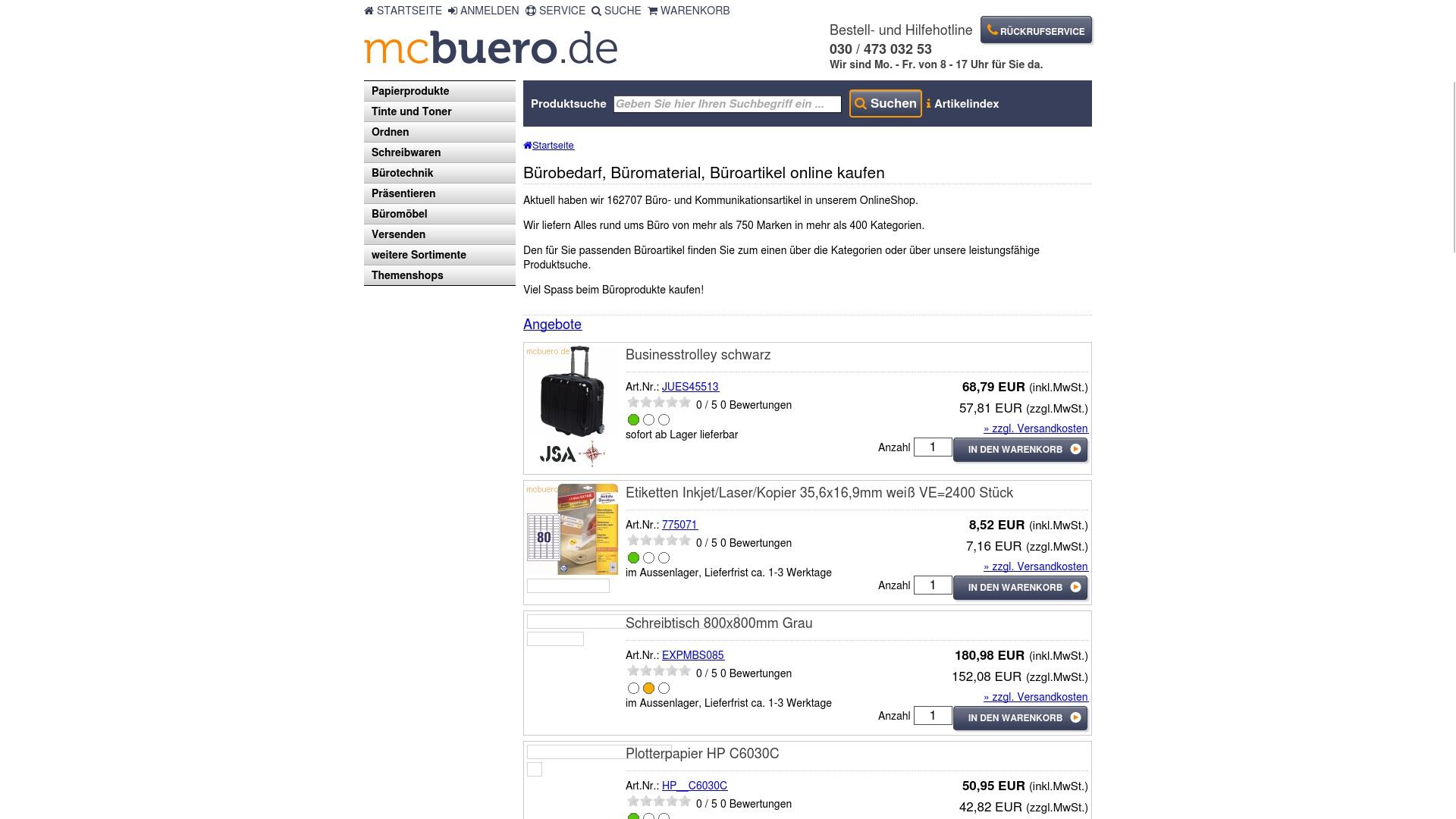 Geld zurück bei Mcbuero: Jetzt im Oktober 2021 Cashback für Mcbuero sichern