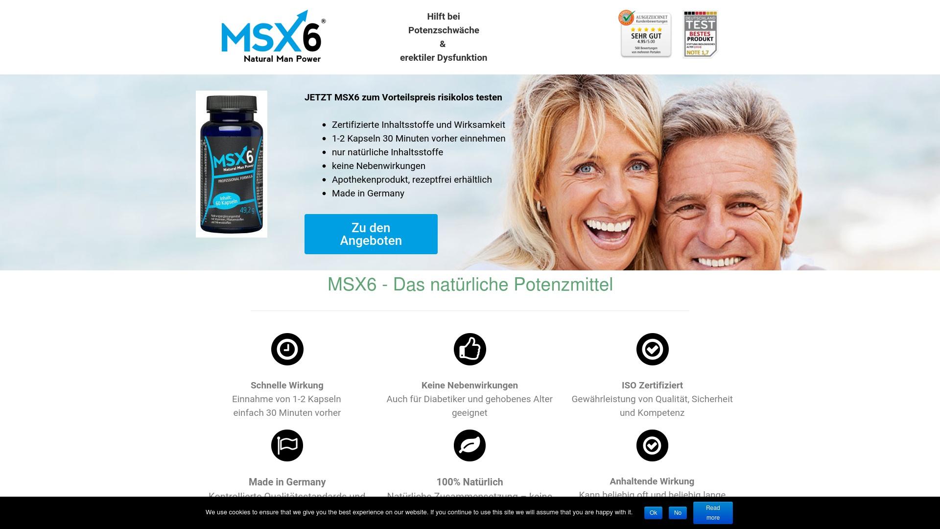 Geld zurück bei Msx6: Jetzt im September 2021 Cashback für Msx6 sichern