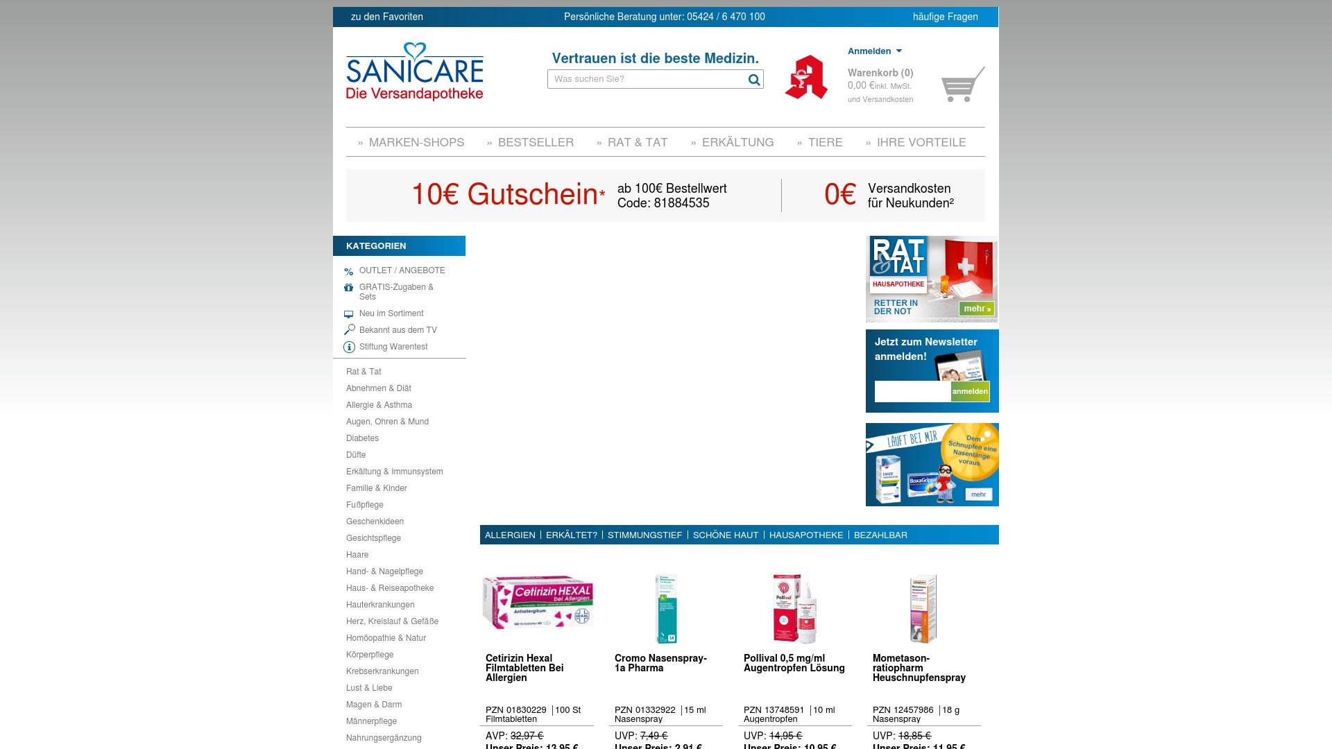 Geld zurück bei Sanicare: Jetzt im Juni 2021 Cashback für Sanicare sichern