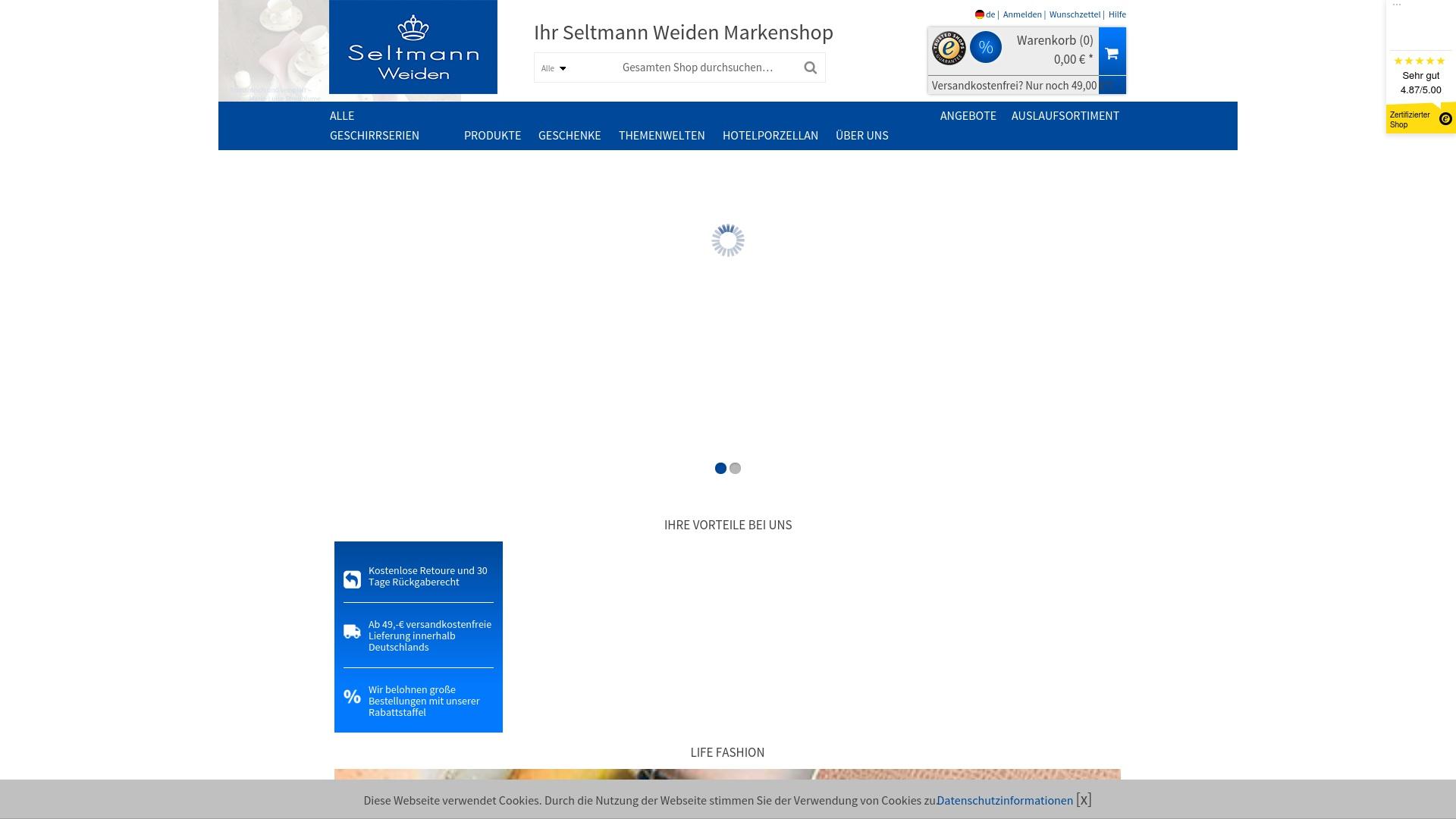 Geld zurück bei Seltmann-shop: Jetzt im September 2021 Cashback für Seltmann-shop sichern