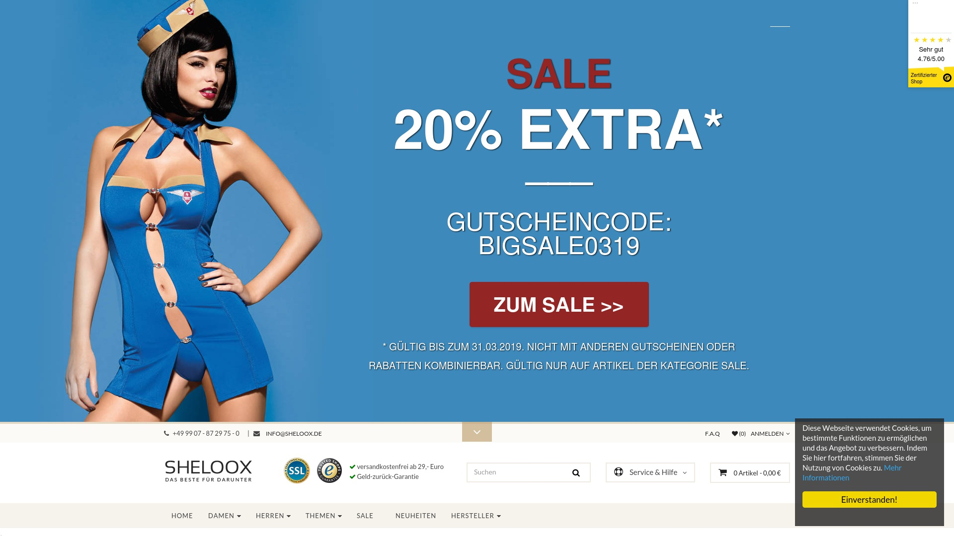 Geld zurück bei Sheloox: Jetzt im Oktober 2021 Cashback für Sheloox sichern