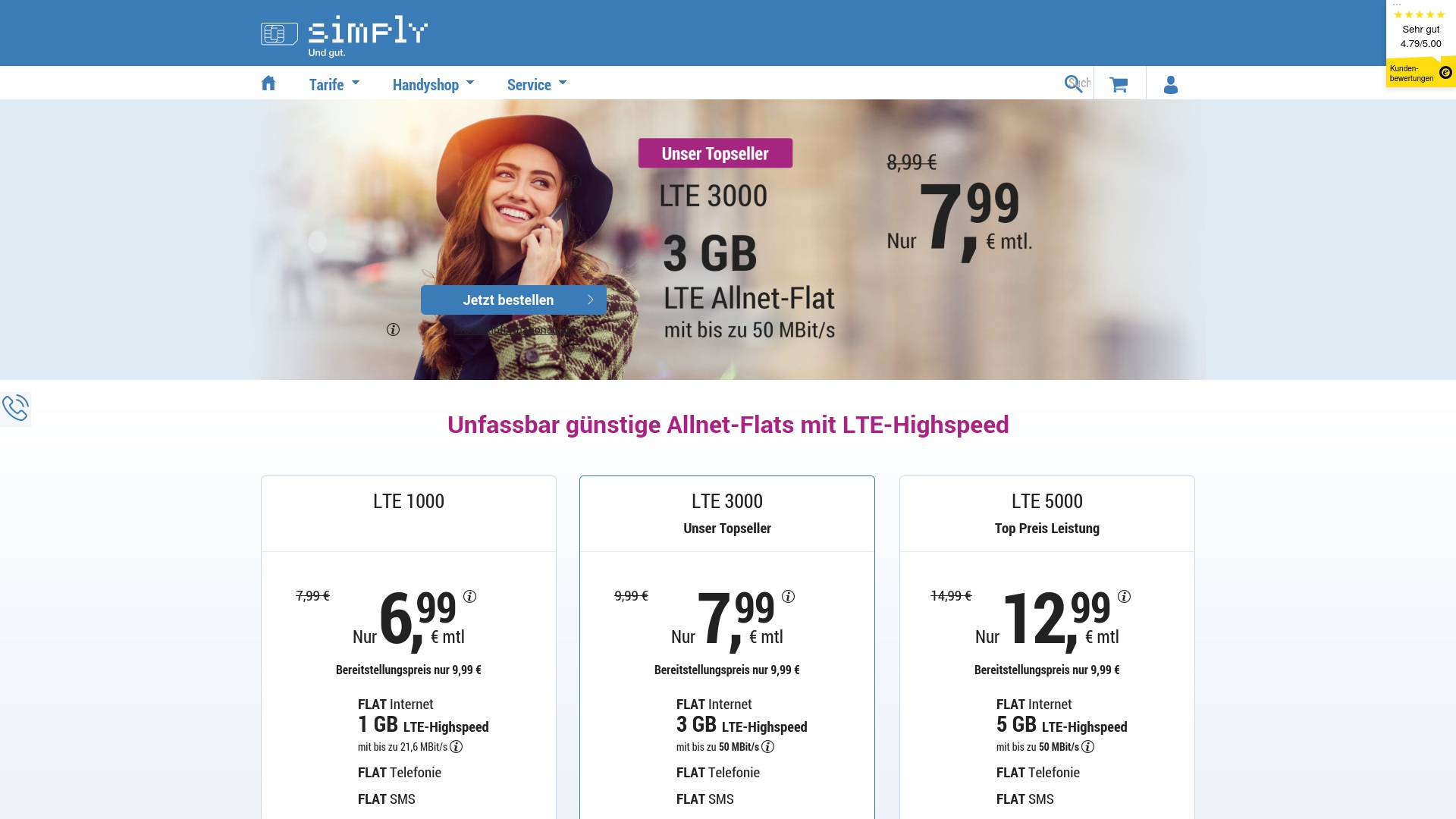 Geld zurück bei Simplytel: Jetzt im Mai 2021 Cashback für Simplytel sichern