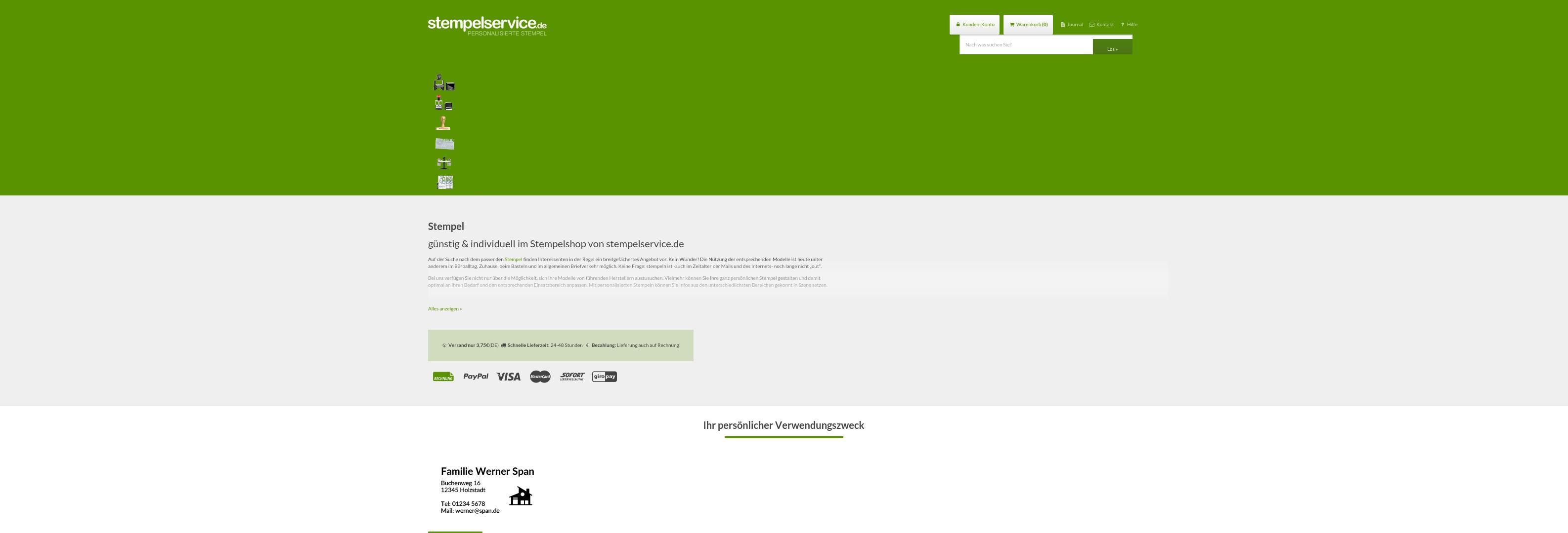 Geld zurück bei Stempelservice: Jetzt im Mai 2021 Cashback für Stempelservice sichern