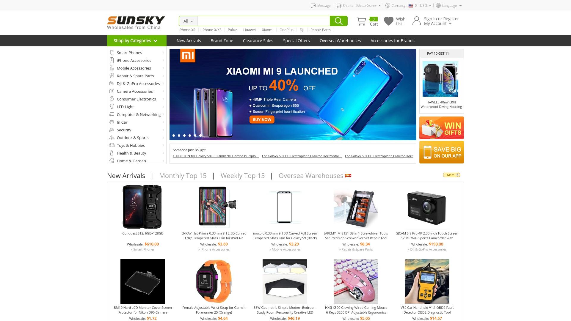 Geld zurück bei Sunsky-online: Jetzt im Mai 2021 Cashback für Sunsky-online sichern