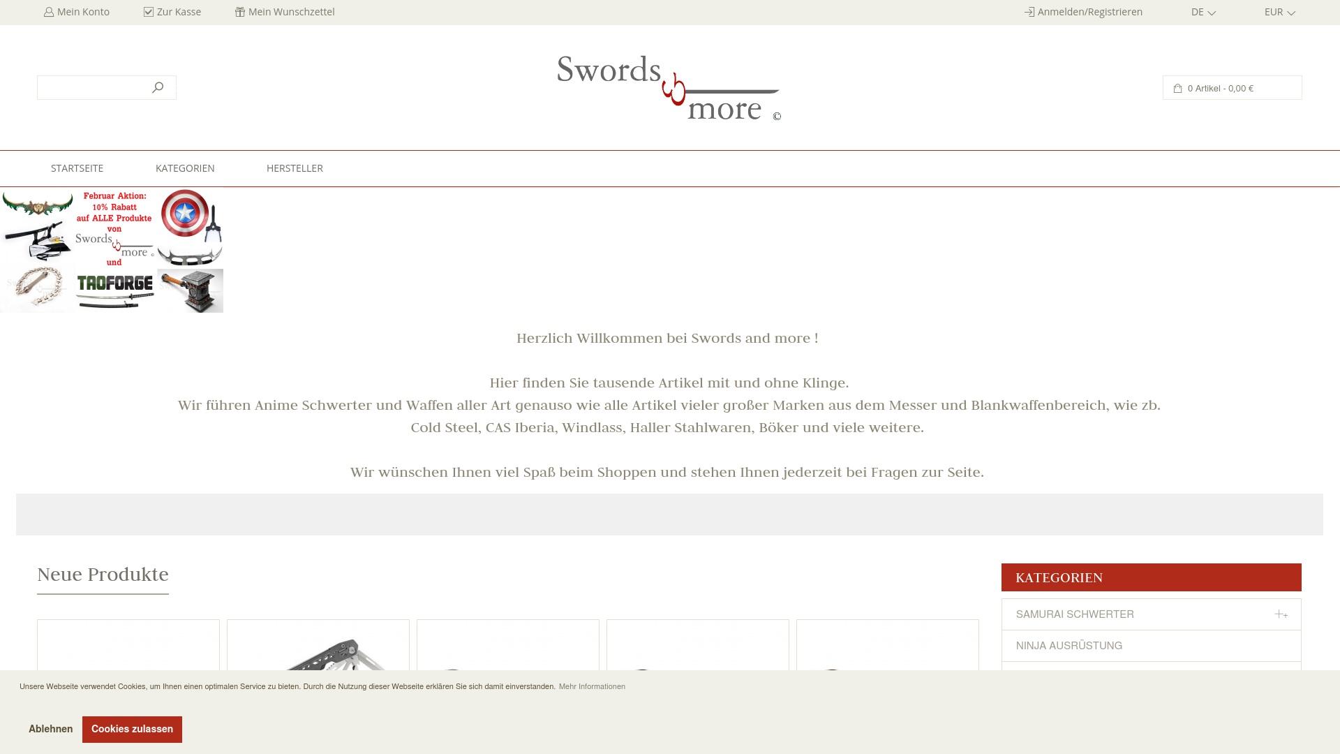 Geld zurück bei Swords-and-more: Jetzt im April 2021 Cashback für Swords-and-more sichern
