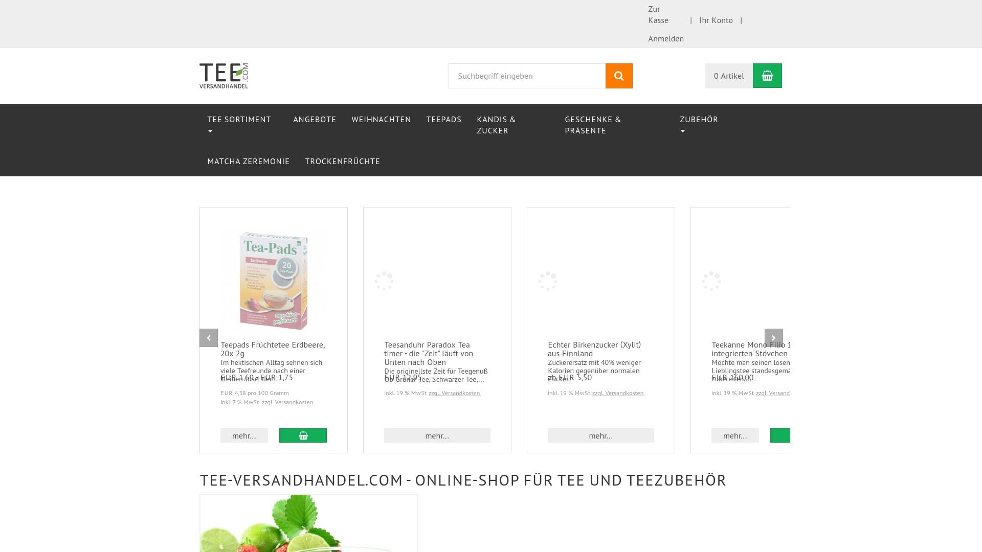 Geld zurück bei Tee-versandhandel: Jetzt im Oktober 2021 Cashback für Tee-versandhandel sichern