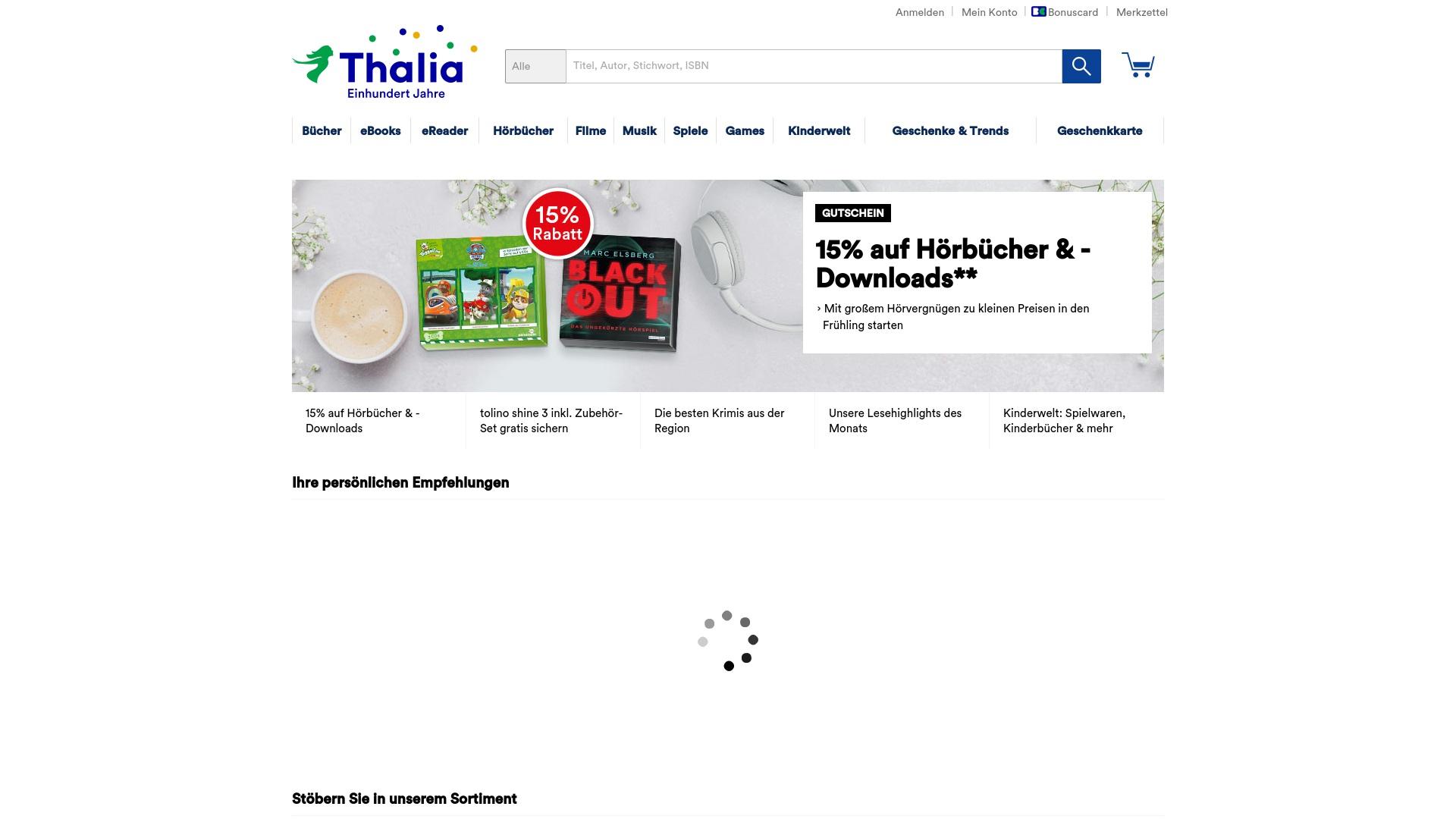 Geld zurück bei Thalia: Jetzt im Juli 2021 Cashback für Thalia sichern