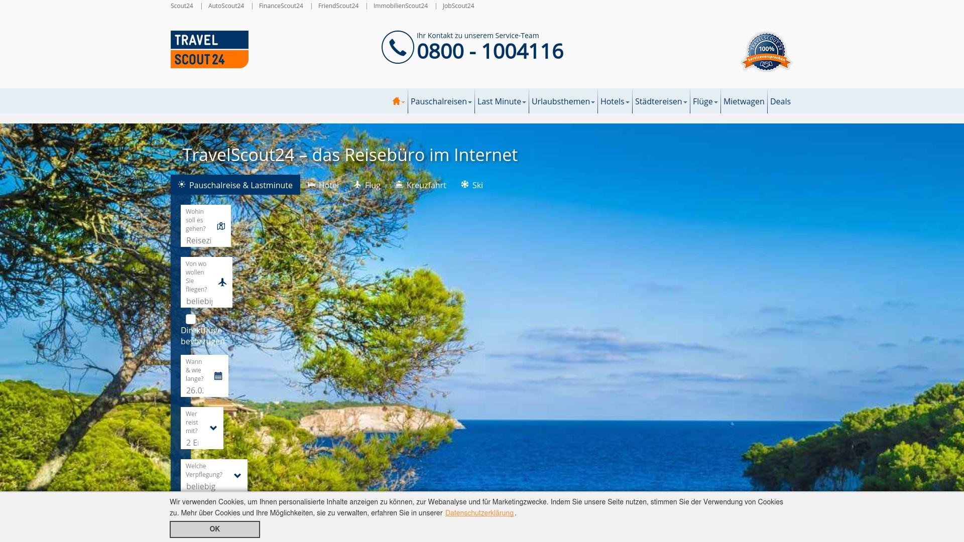Geld zurück bei Travelscout24: Jetzt im Oktober 2021 Cashback für Travelscout24 sichern