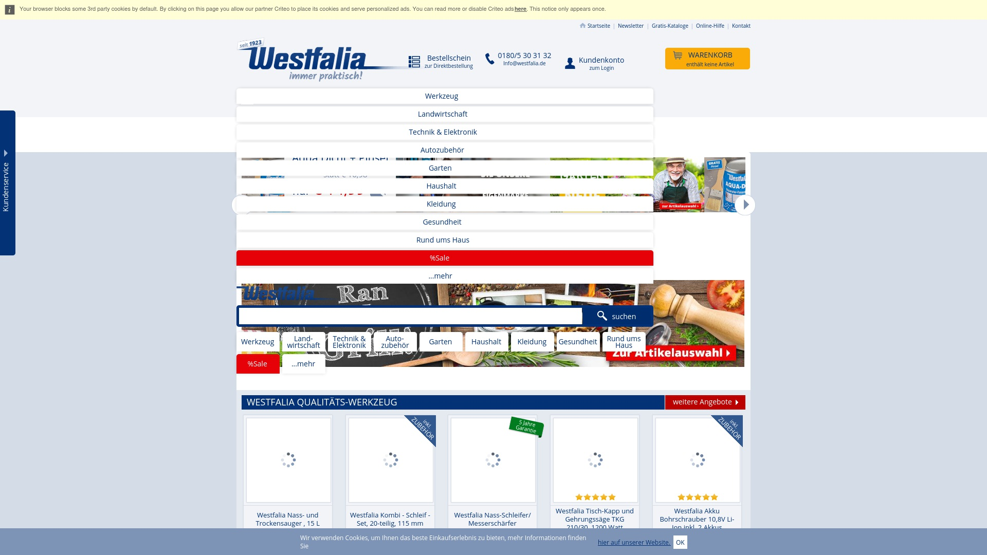 Geld zurück bei Westfalia: Jetzt im September 2021 Cashback für Westfalia sichern