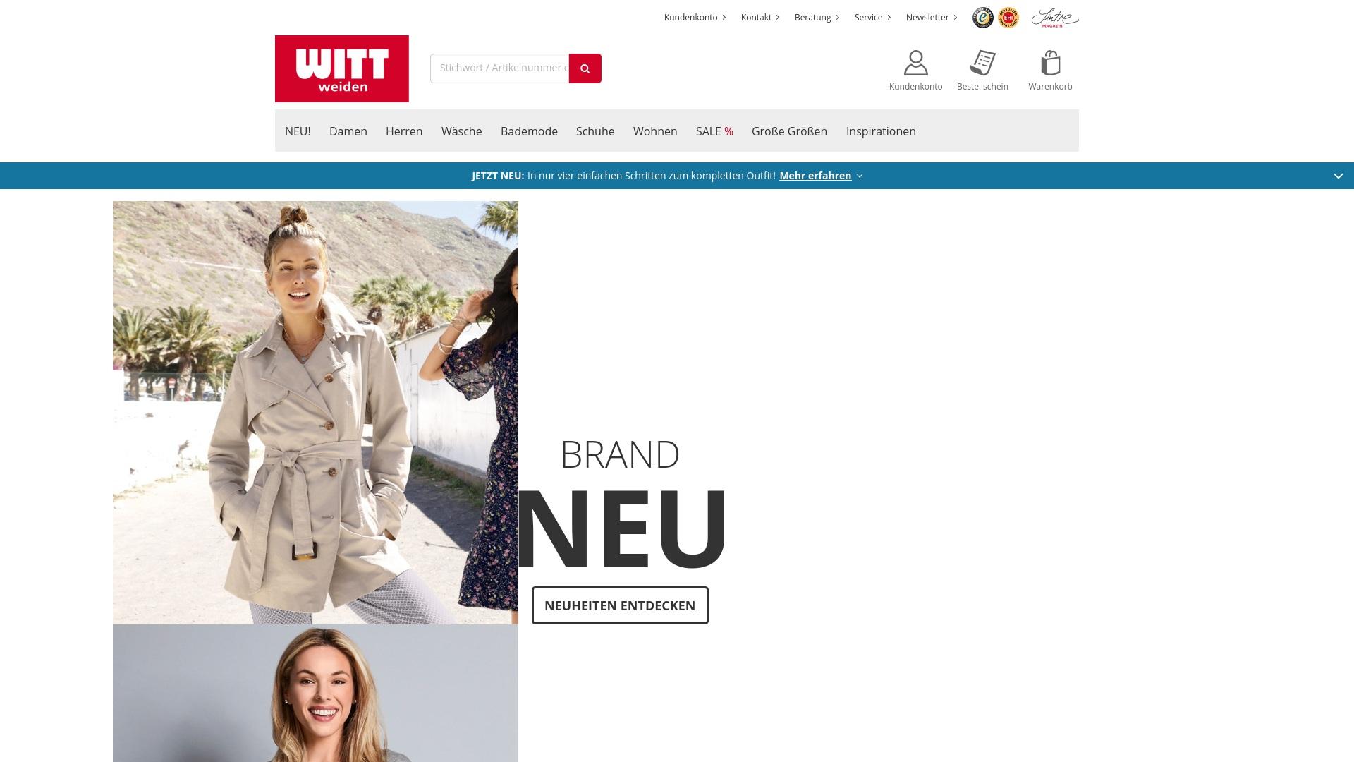 Geld zurück bei Witt-weiden: Jetzt im September 2021 Cashback für Witt-weiden sichern
