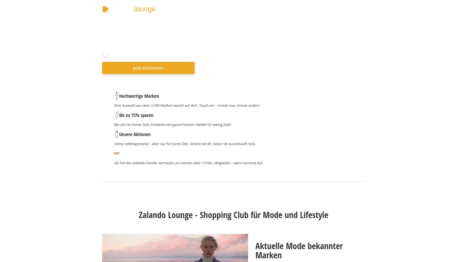 Geld zurück bei Zalando-lounge: Jetzt im Oktober 2021 Cashback für Zalando-lounge sichern