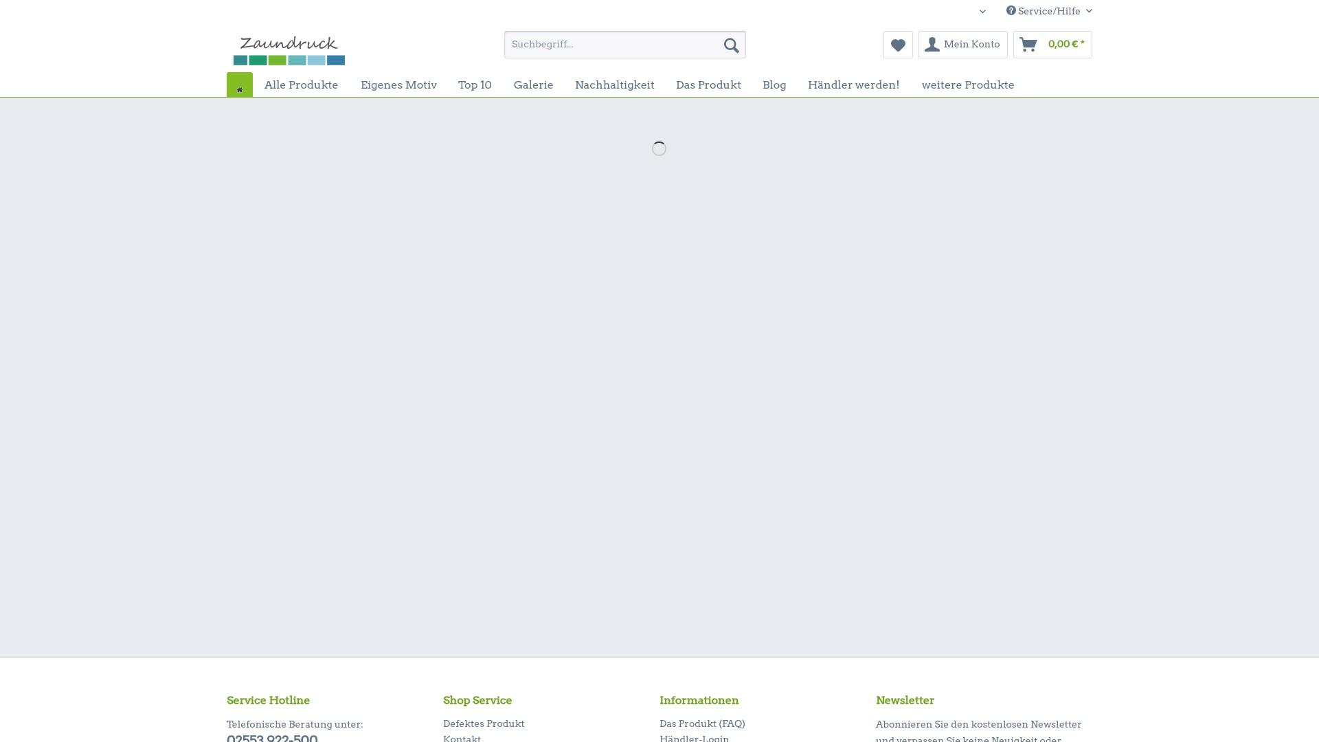 Geld zurück bei Zaundruck-shop: Jetzt im Oktober 2021 Cashback für Zaundruck-shop sichern