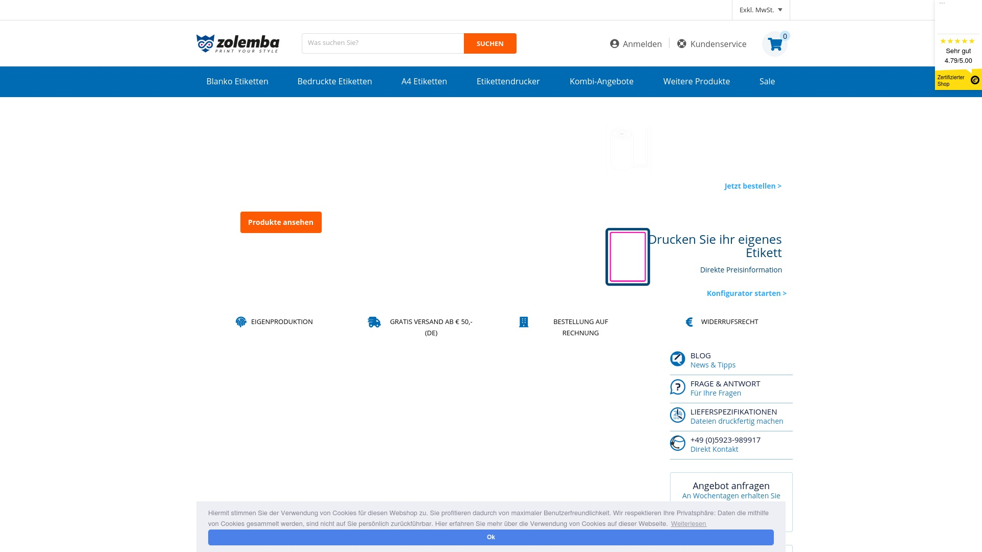 Geld zurück bei Zolemba: Jetzt im Oktober 2021 Cashback für Zolemba sichern
