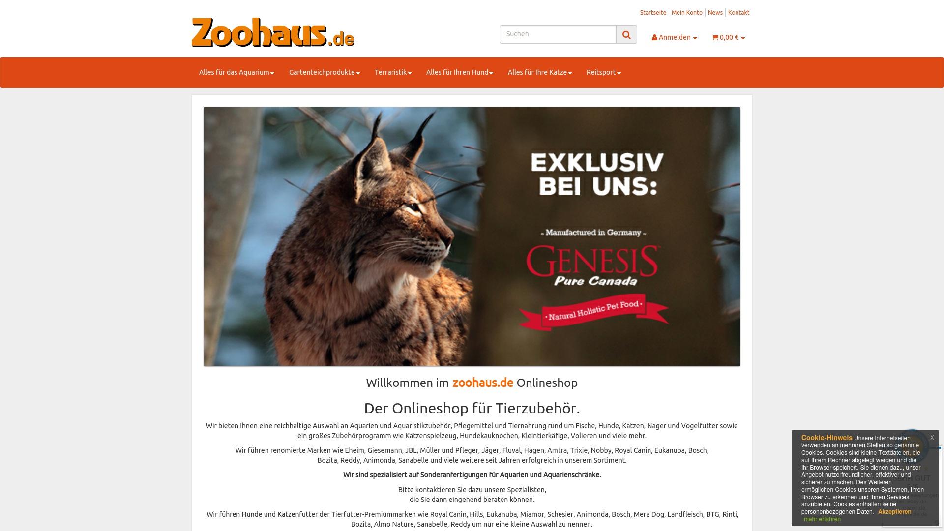 Geld zurück bei Zoohaus: Jetzt im Oktober 2021 Cashback für Zoohaus sichern