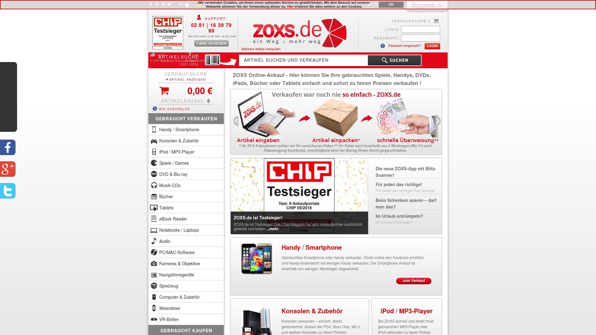 Geld zurück bei Zoxs: Jetzt im Oktober 2021 Cashback für Zoxs sichern